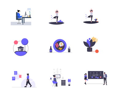 Flat illustrations vector character figma illustration