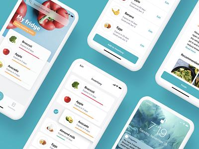 FridgeMate - Food Management App design ux ui