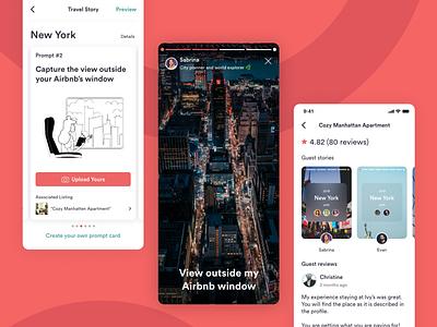 Airbnb Travel Story Concept designjam design ui adobe xd