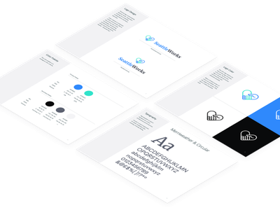 seattleworks brandbook web character icon ui logo ux branding illustration