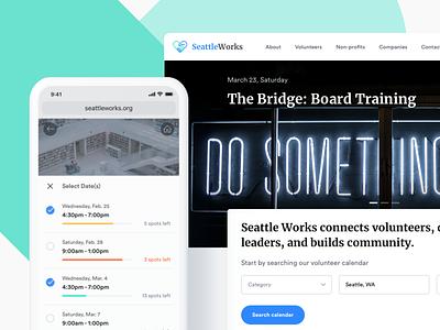 SeattleWorks responsive web design web design ux branding ui webdesign