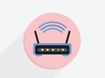 Router icon flat ui ios