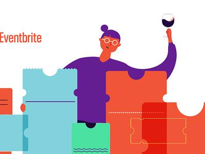 email header for eventbrite vector illustration marketing diseño design wine tickets