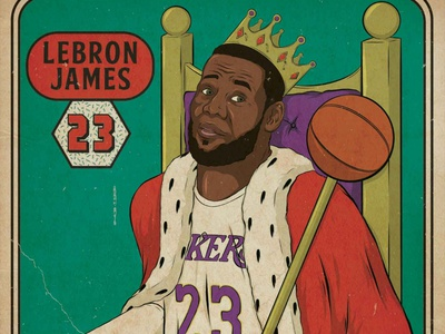 King James advertising illustration procreate adobe photoshop adobe illustrator design illustration