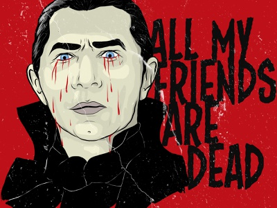 Tears for Fears-Dracula dracula horror movie horror type design typography vector illustration