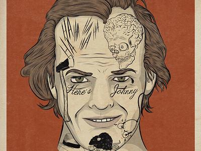 Jack Nicholson portrait illustration portrait movie art movie adobe photoshop film comedy adobe illustrator advertising illustration design illustration illustrator celebrity tattoo