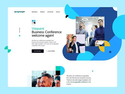 Weavent Business Conference wordpress ratajczyk ux visiontrust theme poland webdesign website ui design web training event business conference