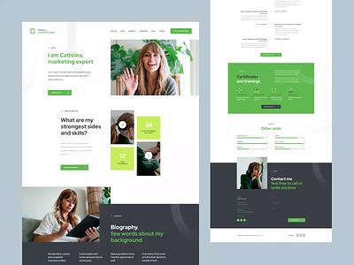 Cathrina Douglas - Personal CV vitae onepage landingpage cv curriculum theme wordpress ratajczyk visiontrust poland webdesign website ui design web