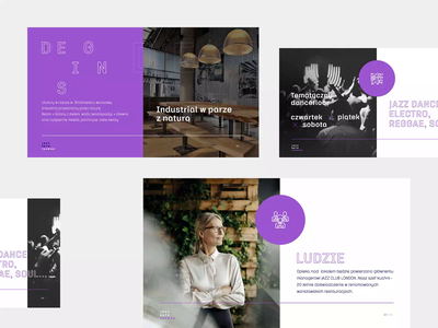 Jazz Cafe London - Brand Concept 🎷 cafe jazz aftereffects principle restarurant ui presentation branding animation concept brand
