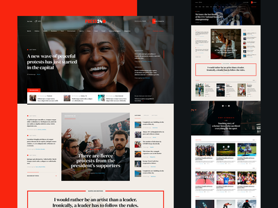 Press theme press news journalist read article media wordpress ux ui visiontrust poland blog typography web webdesign