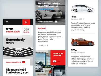 Toyota Homepage #3