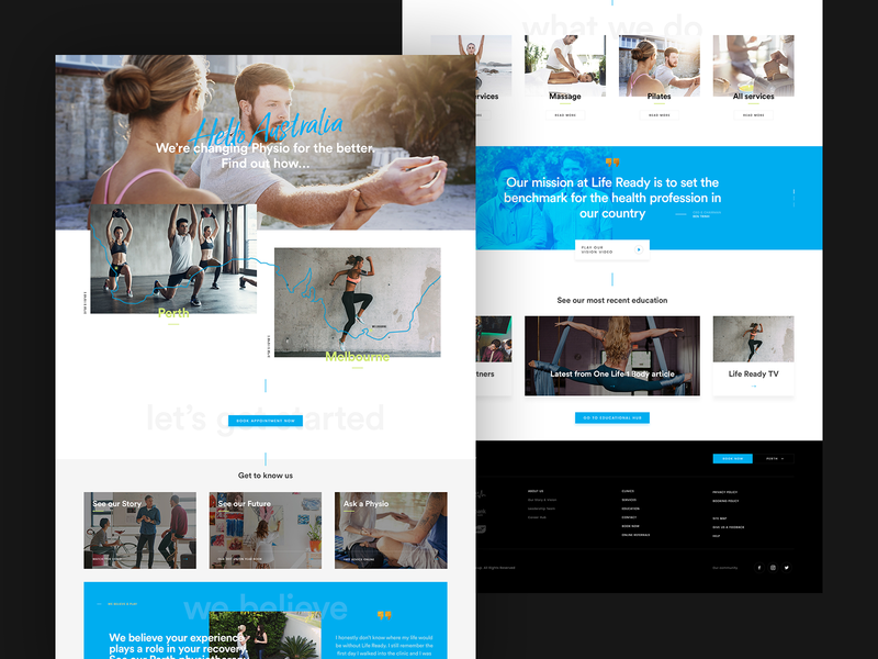 Life Ready Physiotherapy clinic health body webdesign web life physiotherapy poland ux ui website design