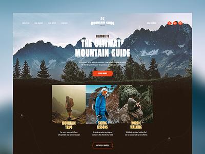 Mountain Guide visiontrust website web ui trip travel guide mountains mountain wordpress theme poland landingpage design branding