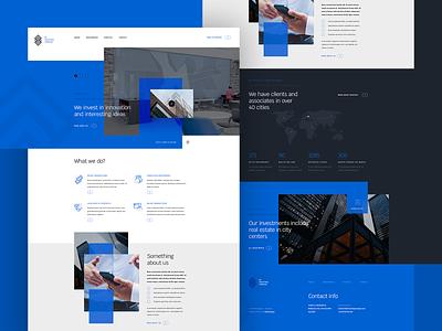 Finance and Investments - Company Website money investements finance corporate company ratajczyk branding visiontrust design theme website ui web