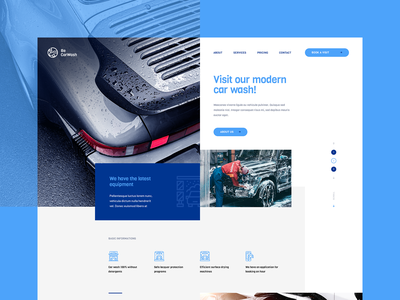 Car Wash Website wordpress ux detailing cars car ratajczyk visiontrust poland theme website ui design web