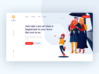 Insurance Company webdesign ratajczyk theme company illustration visiontrust poland ui design web website insurance