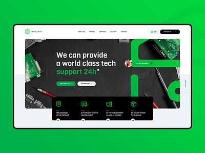 Digital Brains - Computer Service Website tech service computer lukaszratajczyk ux branding poland visiontrust theme ui website webdesign design web
