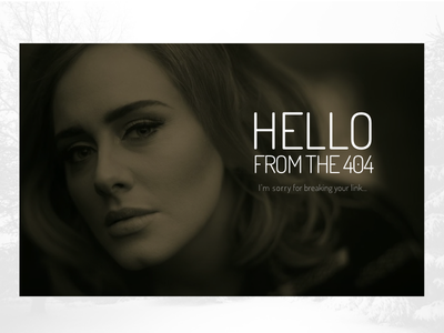 Hello from the 404 hello sketch 008 dailyui adele 404