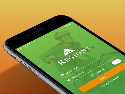 Regions Banking App mobile banking banking apple ios9 sketch bank regions mobile app iphone ios