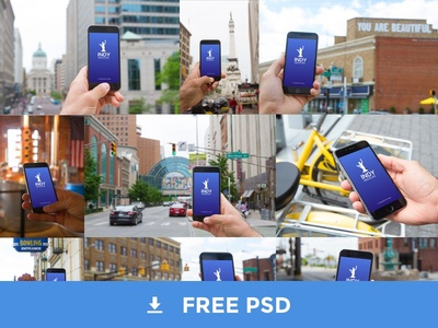 Photo Realistic iPhone Mockups in Indianapolis photoshop mobile giveaway download template developertown mockups iphone indianapolis psd free freebie