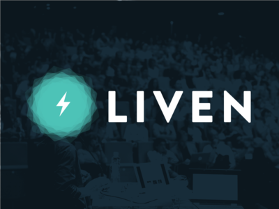 Liven Logo interaction conference event live branding logo