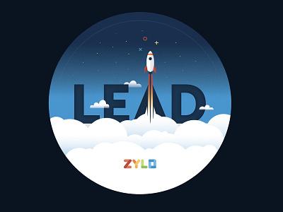 Cloud SaaS Logomark leadership flight sky logomark logo space cloud rocketship