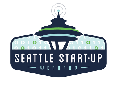 Start-up Weekend Logo binary code space needle seattle logo technology tech start-up