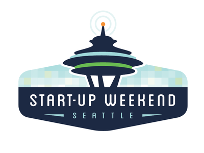 Start-Up Weekend Logo technology bitmap pixel space needle seattle start-up tech logo