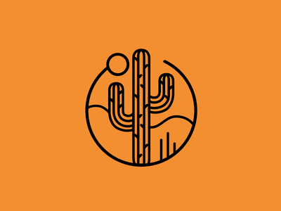Phoenix: city iconography set desert illustration iconography urban cactus arizona phoenix icon