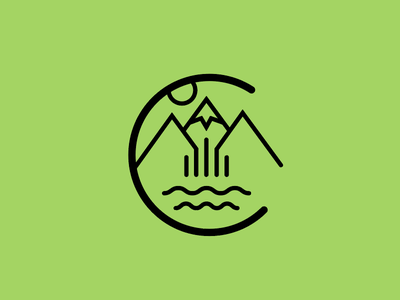 Denver: city iconography set colorado denver mountains west desert illustration iconography urban icon
