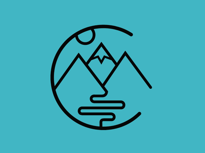 Colorado Icon denver logo vector blue adventure river icon outdoors mountains colorado