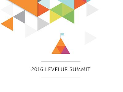 Summit Icon triangle geometric logo conference peak icon flag mountain community summit