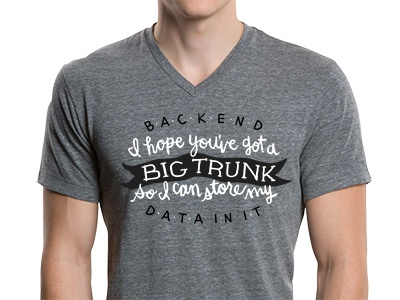 Backend Data typography illustration design t-shirt hand lettering framework backend big data data