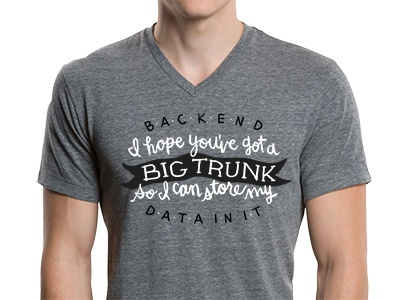 Backend Data typography illustration design t-shirt hand lettering framework backend big data data