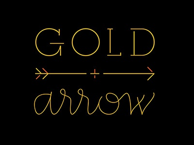 Gold + Arrow logo exploration feminine script monoline logo golden modern arrow gold