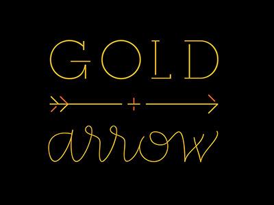 Gold + Arrow logo exploration feminine script monoline logo golden modern arrow gold