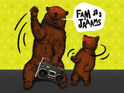 Free Candy music concert dancing yellow kanye sunglasses modern etching animal bear