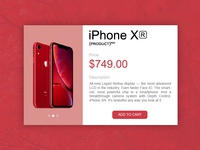 E-commerce iPhone Xr - single item