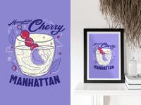 MaraschinoCherry Manhattan: No 3 of 3 passionproject design lettering art smallbusiness illustration art lettering illustrator illustration