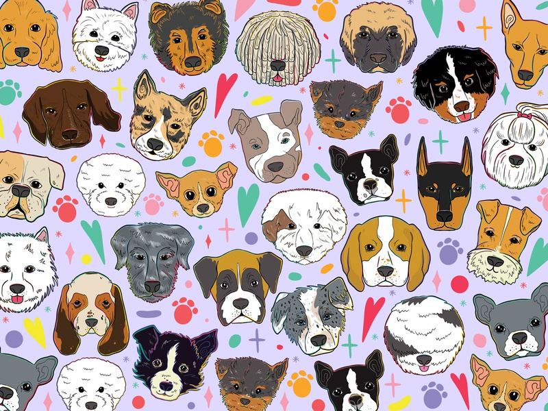 Doggust 2020: Pattern facemask doggust2020 design vectorart procreateapp smallbusiness lettering art illustration art lettering illustrator illustration