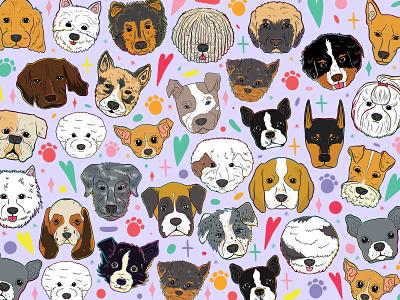 Doggust 2020: Pattern facemask doggust2020 design vectorart procreateapp smallbusiness lettering art illustration art lettering illustrator illustration
