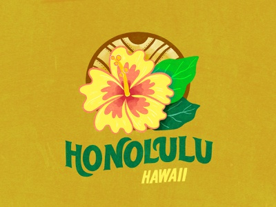 Day13 #30DaysofPlay - Places: Honolulu postcard project postcard procreateapp passionproject smallbusiness lettering art illustration art lettering illustrator illustration