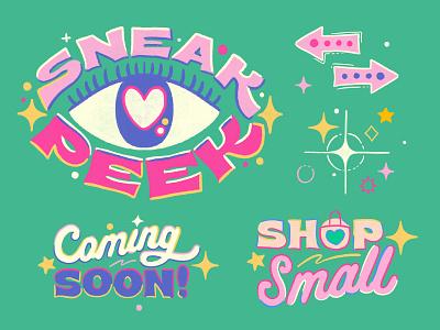 Day19 #30DaysofPlay - Sneak Peek. Coming Soon. Shop Small! gif animated gif animation animatedgif gif passionproject procreateapp design lettering art illustration art lettering illustrator illustration