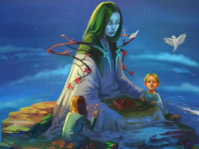 Treat the Earth concept art character wowhowstudio illustration mother earth ecology earth day earth