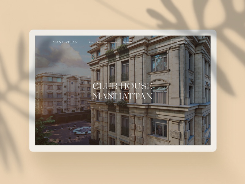 Manhattan - real estate / concept property website minimal real estate house apartment concept web design ux ui