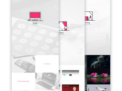 My portfolio painting portfolio dreamweaver illustrator photoshop vector ui css html web design webdesign