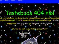 Tastebuds 404 Page