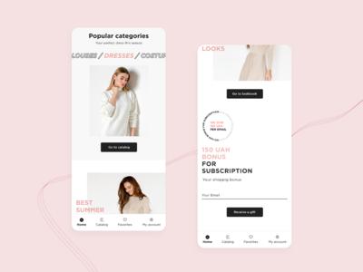 SL.IRA fashion brand | mobile app homepage | concept