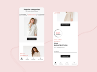 SL.IRA fashion brand | mobile app homepage | concept