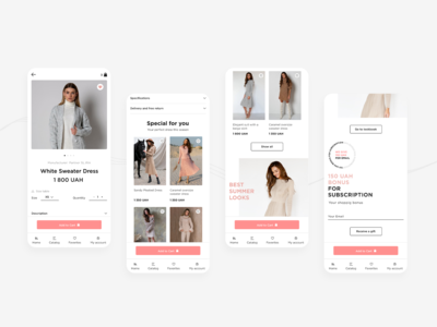 SL.IRA fashion brand | mobile app product page | concept